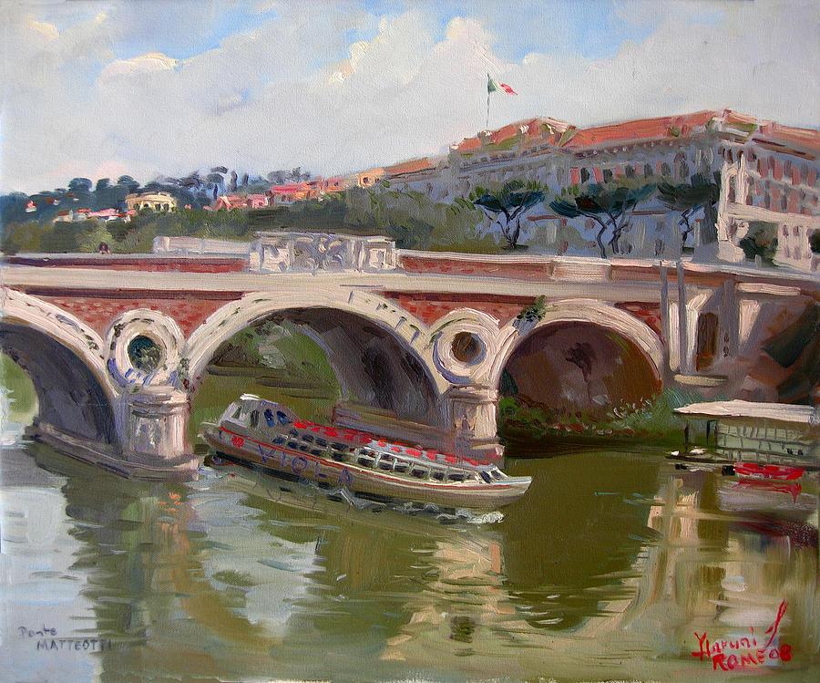 Rome Painting - Rome Ponte Matteotti by Ylli Haruni