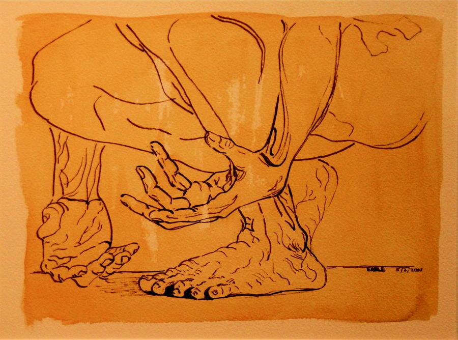 Male Nude Pastel - Rome Series IIi by Dan Earle