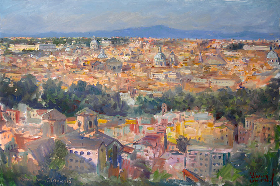 Rome Painting - Rome View from Gianicolo by Ylli Haruni