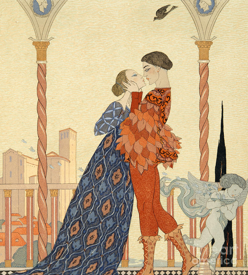 Romeo Painting - Romeo And Juliette by Georges Barbier