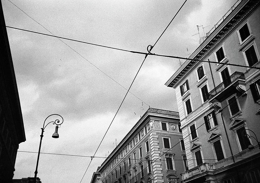 Rome's downtown cable sky by Nacho Vega
