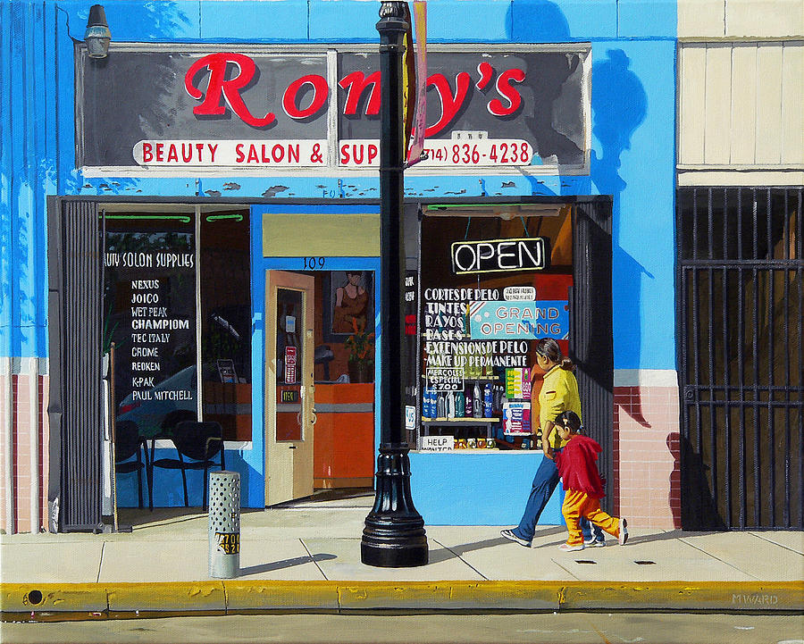 California Painting - Romys by Michael Ward