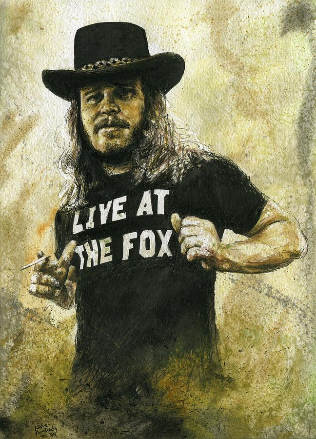 Van Zant Painting - Ronnie Van Zant by Nate Michaels