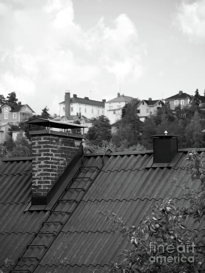 Black And White Photograph - Roof by Tapio Koivula