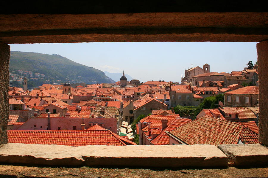 Roof Top View of Old Dubrovnik from Inside the Wall by Laurel Talabere