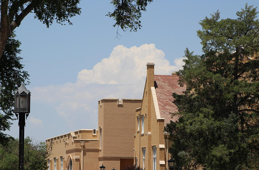 New Mexico Photograph - Roof Tops and Clouds by Colleen Cornelius