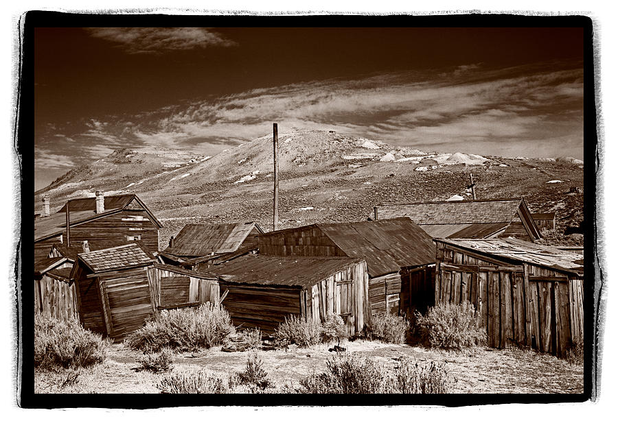 Bodie Photograph - Rooflines Bodie Ghost Town by Steve Gadomski