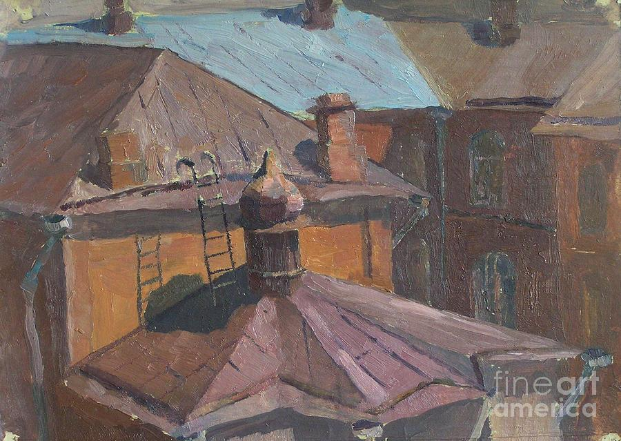 Roofs Painting - Roofs by Andrey Soldatenko