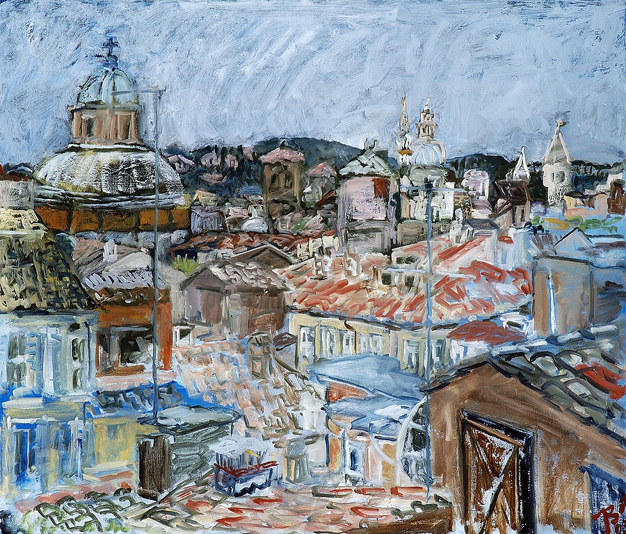 Cityscape Painting - Roofs Of Rome by Joan De Bot