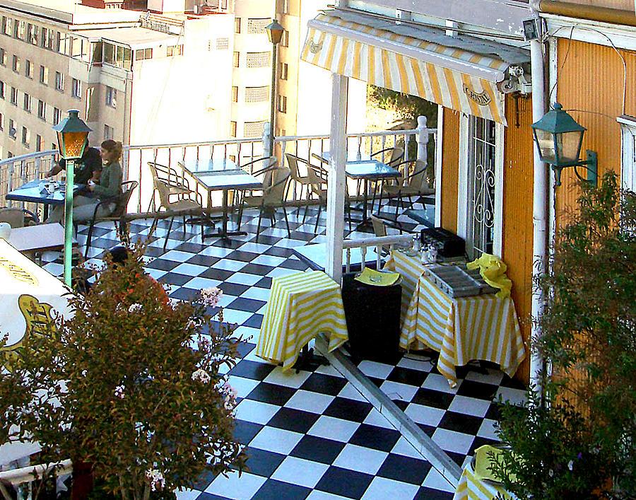 Rooftop Cafe by Karen Zuk Rosenblatt