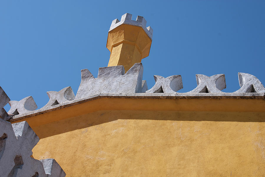 Architectural Photography Photograph - Rooftop Study Of Pena Palace -sintra, Portugal by Connie Sue White