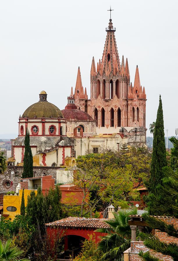 Getty Photograph - Rooftop View Of La Parroquia De San Miguel Arcangel by Rob Huntley