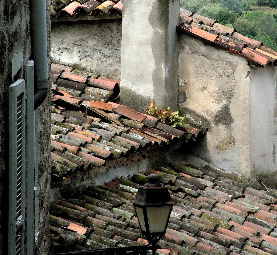 Rooftops Corsica Photograph by John Bradburn