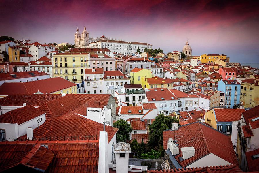 Rooftops Of Alfama Lisbon Photograph