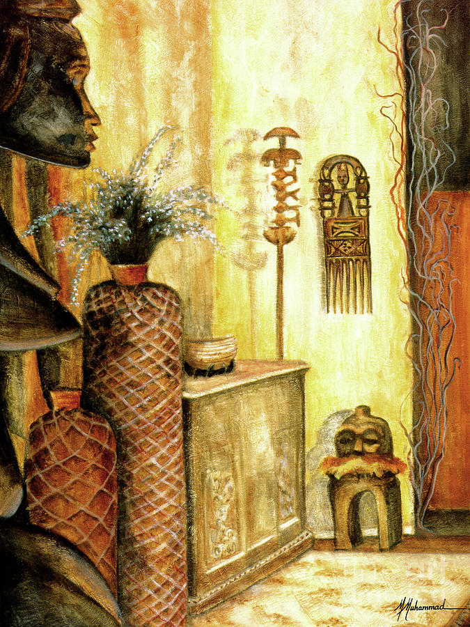 Africa Painting - Room With A View by Marcella Muhammad