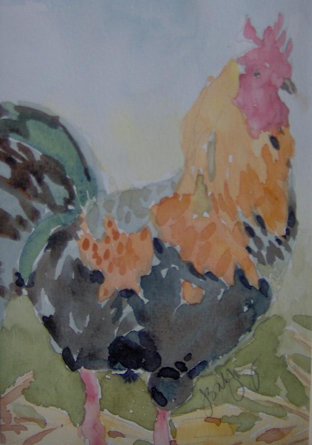 Rooster Painting - Rooster For Carol by Jeanette Salzburg