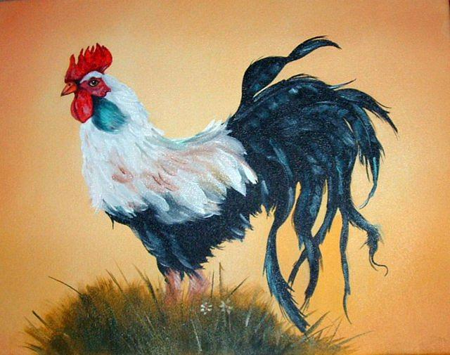 Chicken Painting - Rooster by Gwendolyn Frazier