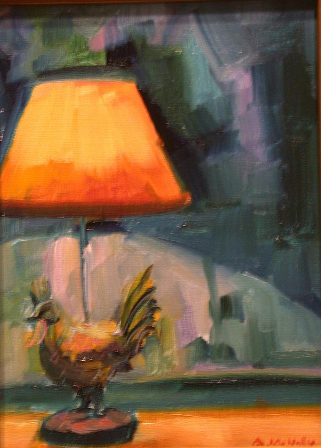 Still Life Painting - Rooster Lamp by Anne McNally