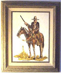 Rooster Cogburn Painting - Rooster by Larry Wetherholt