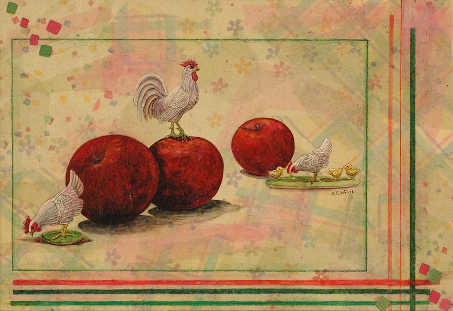 Rooster Painting - Rooster by Sandy Clift