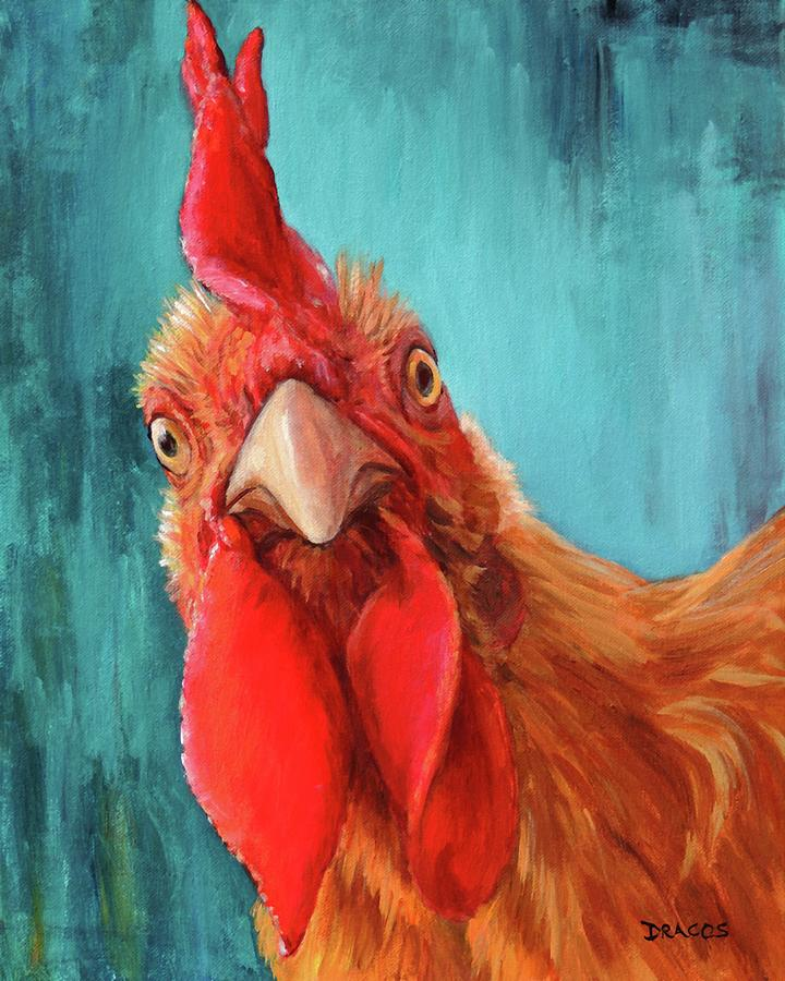 Acrylic Chicken Paintings
