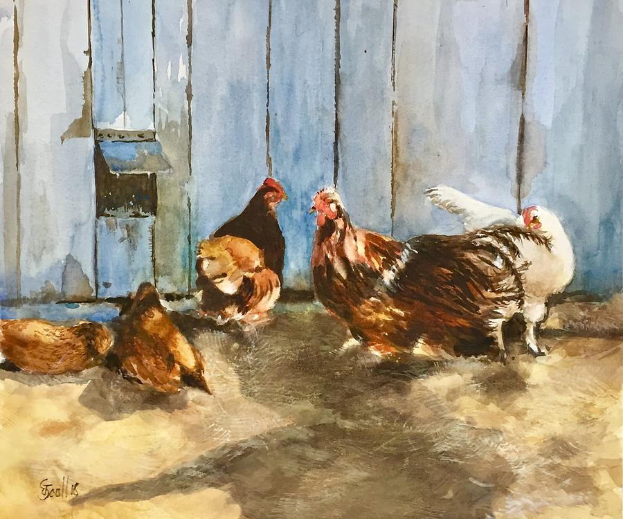 Roosters and Chickens by Judith Scull