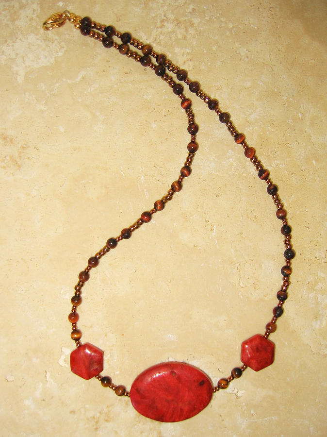 Necklace Jewelry - Root Chakra Necklace by Treasure-Tob E