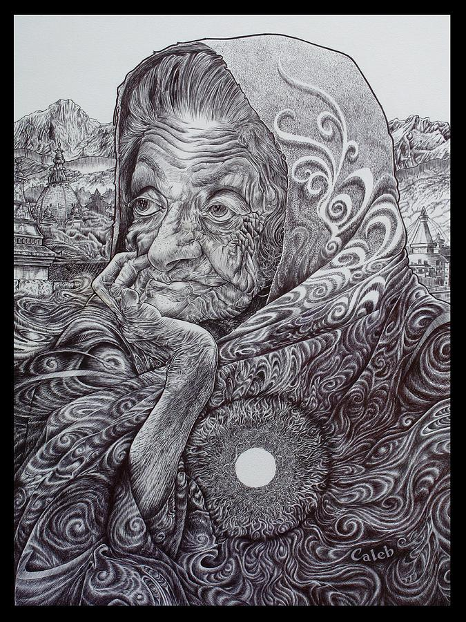 Mystic Drawing - Rooted In The Ground Of Being by Caleb  Hamm