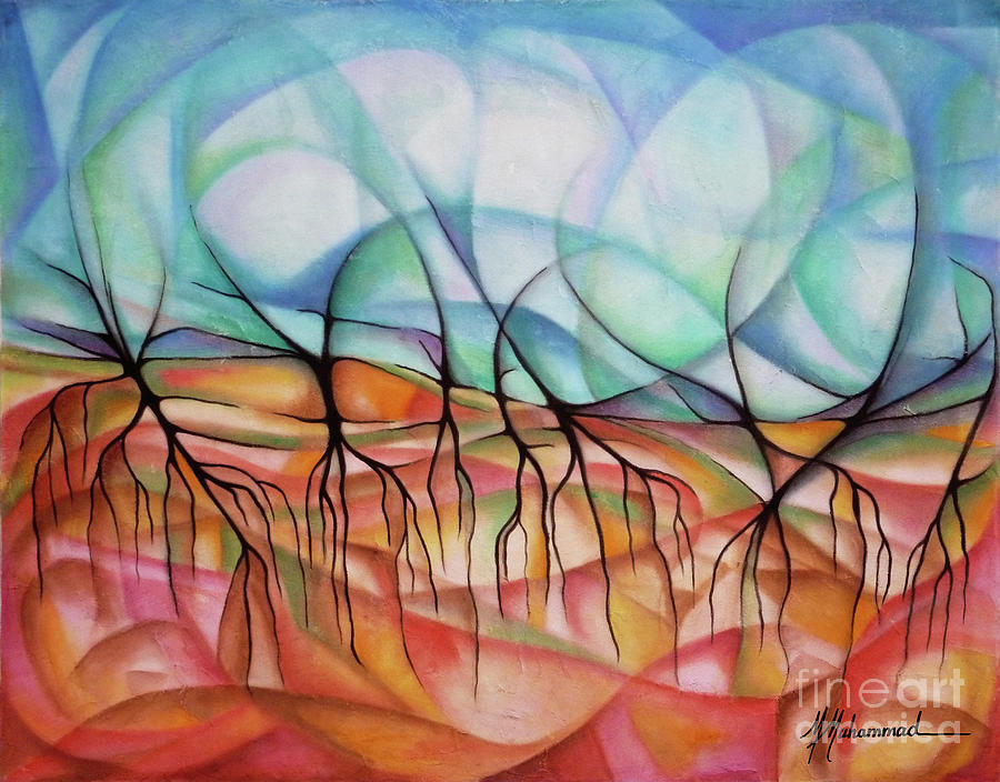 Roots Painting - Roots In The Warm Earth by Marcella Muhammad