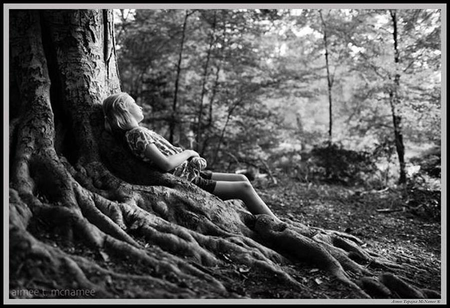 Black And White Photograph - Roots of Contemplation by Ray Tapajna