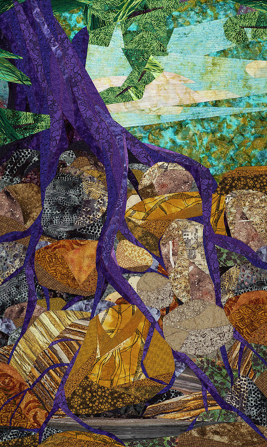 Tree Tapestry - Textile - Roots Run Deep by Linda Beach