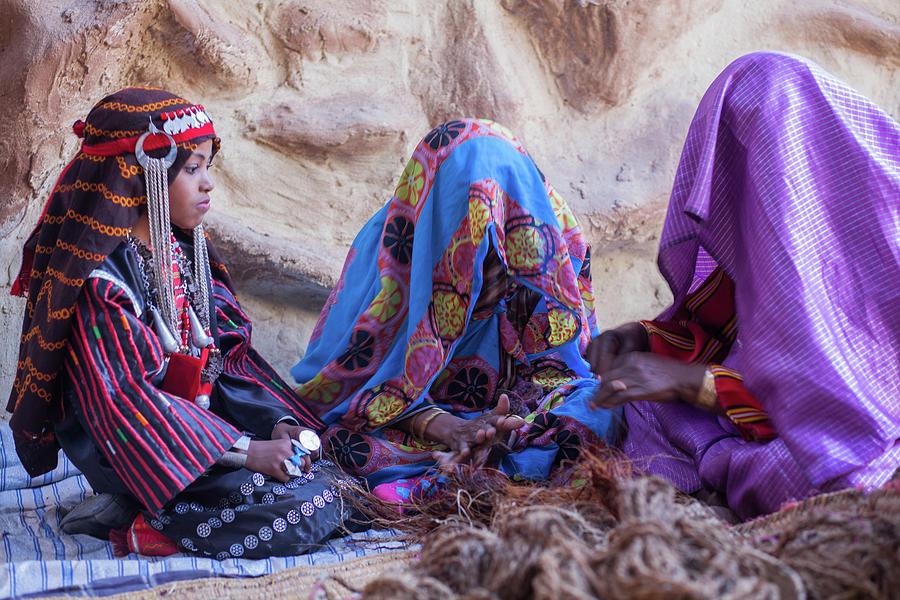 Libya Photograph - Rope makers by Ibrahim Azaga