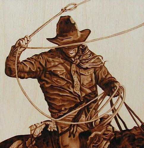Cowboy Drawing - Ropin Cowboy by Cate McCauley