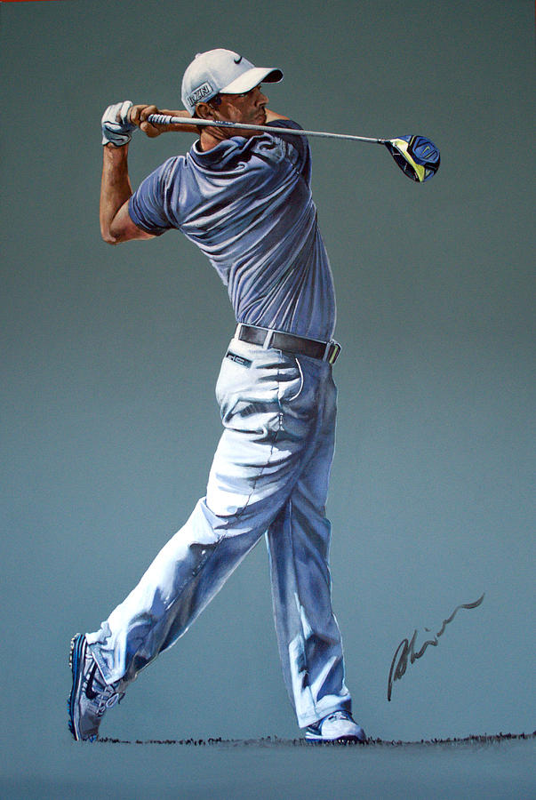 Rory Mcilroy Painting - Rors 2016 by Mark Robinson