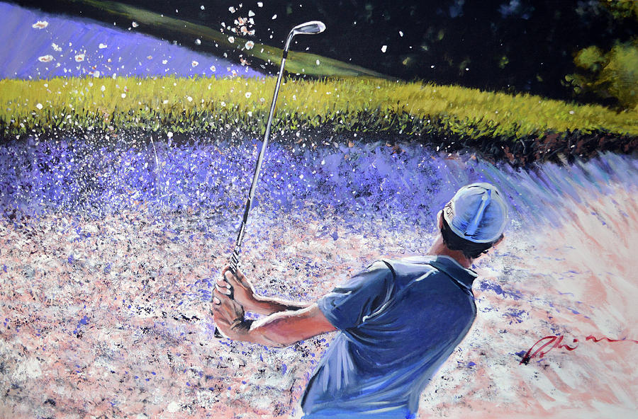 Rory Mcilroy Painting - Rors Bunker by Mark Robinson