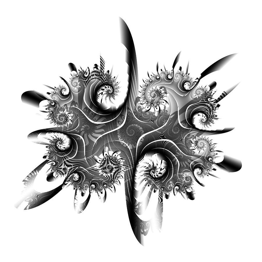 Abstract Digital Art - Rorschach by David April