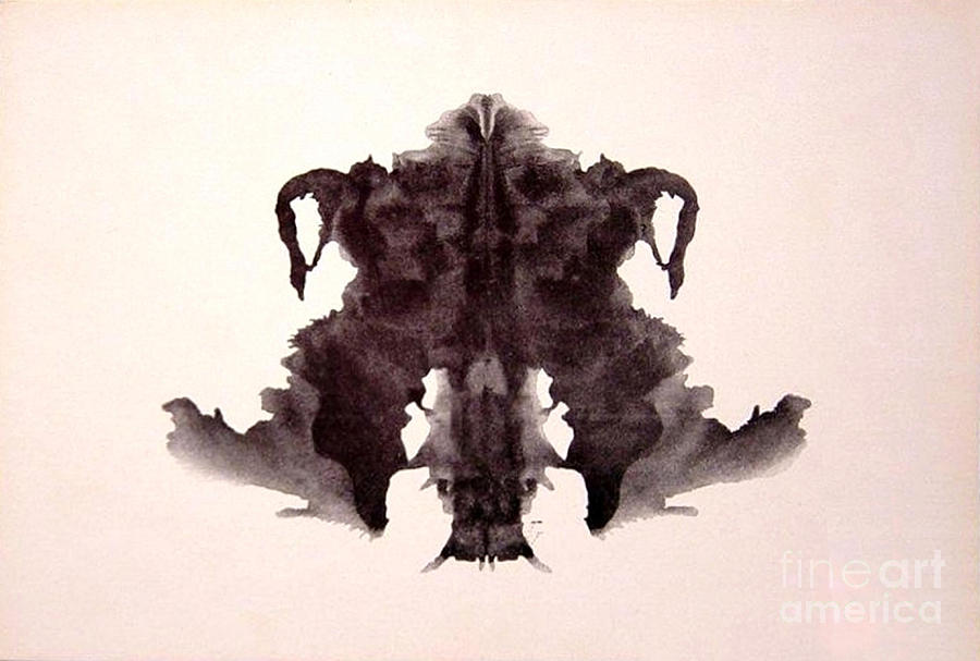 Science Photograph - Rorschach Test Card No. 4 by Science Source