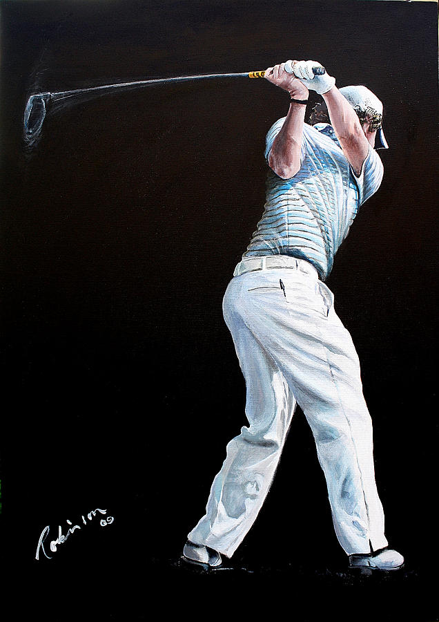 Rory Mcilroy Painting - Rory Mcilroy 2009 Dwtc by Mark Robinson