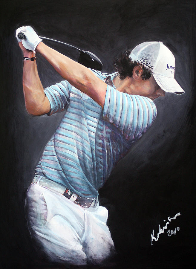Rory Mcilroy Painting - Rory Mcilroy 2010 Dwtc by Mark Robinson