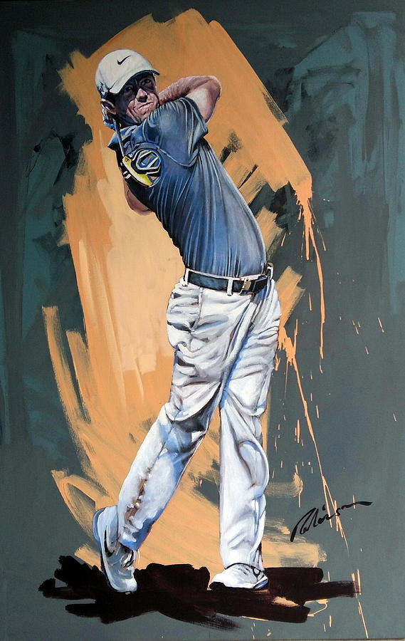 Rory Mcilroy Painting - Rory Mcilroy 2015 by Mark Robinson