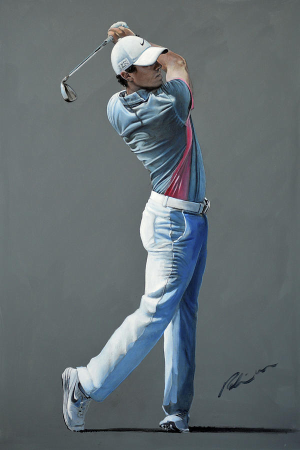 Rory Mcilroy Painting - Rory Mcilroy Ddc 2015 by Mark Robinson
