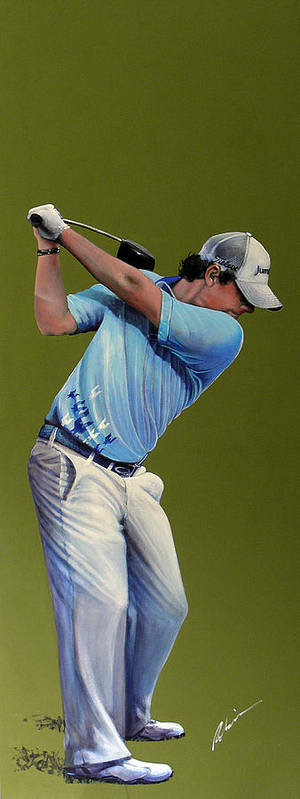 Rory Mcilroy Painting - Rory Mcilroy Open Champion by Mark Robinson