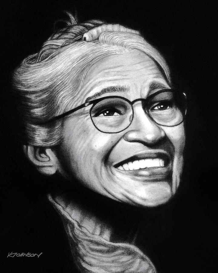 Rosa Parks - Civil Rights Leader Collection by Kevin Johnson Art