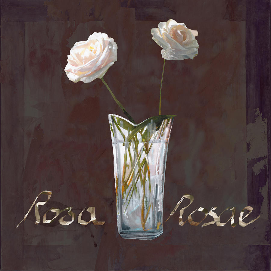 Rasa Painting - Rosa Rosae by Guido Borelli