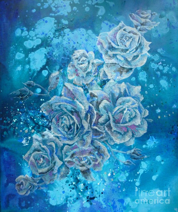 Rose Mixed Media - Rosa Stellarum by Julia Underwood