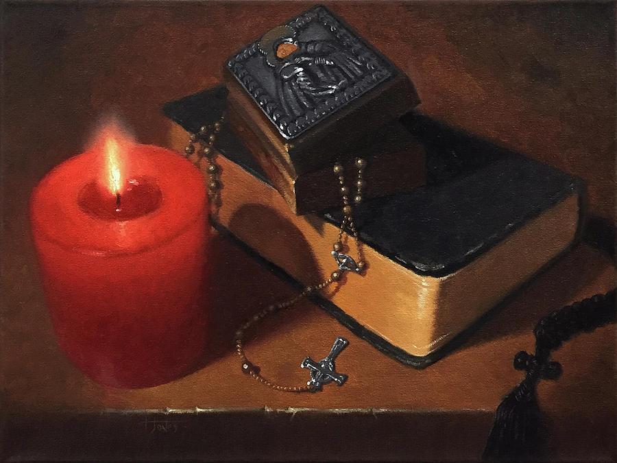Rosary Painting - Rosary Meditation by Timothy Jones