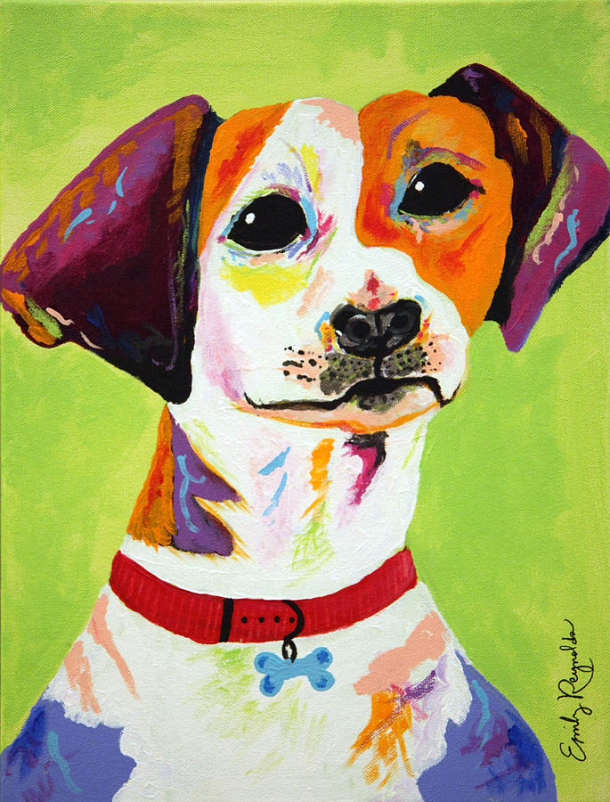 Dog Painting - Roscoe The Jack Russell Terrier by Emily Reynolds Thompson