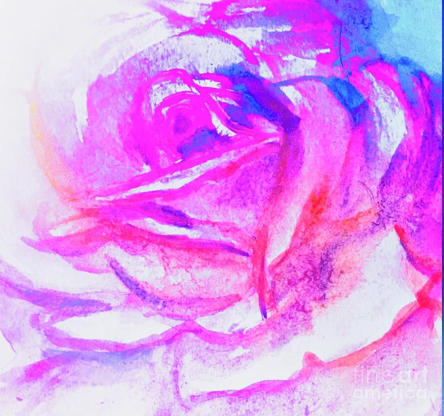 Rose Painting - Rose 1 by Lavender Liu