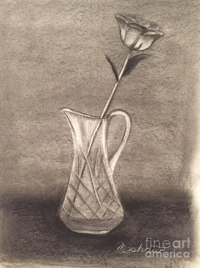 Rose Drawing - Rose #1 by Sheila Mashaw