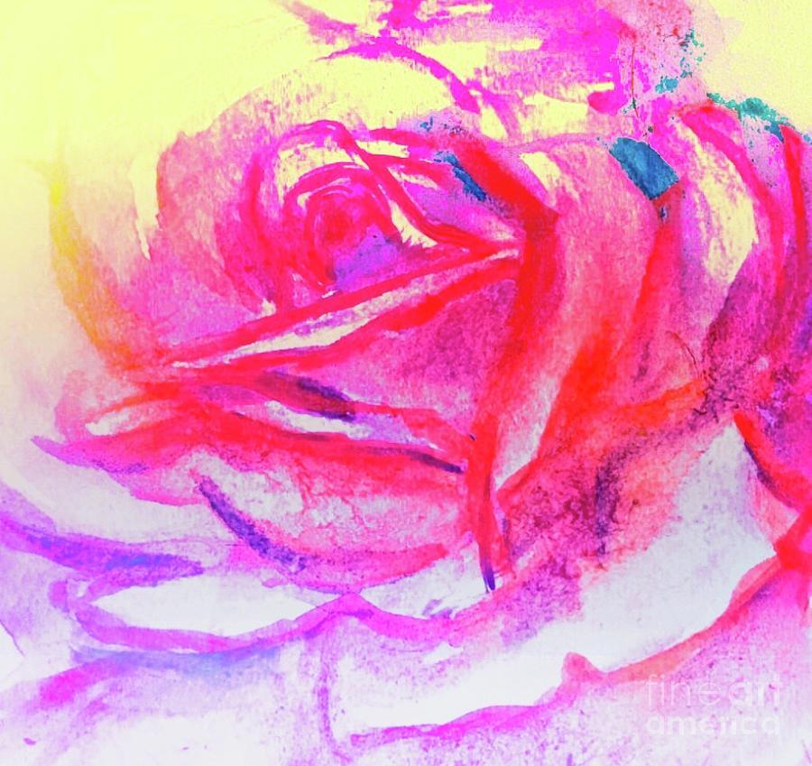 Ros Painting - Rose 2 by Lavender Liu